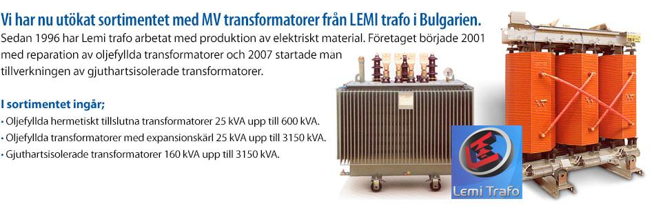 MV transformatorer från LEMI trafo i Bulgarien